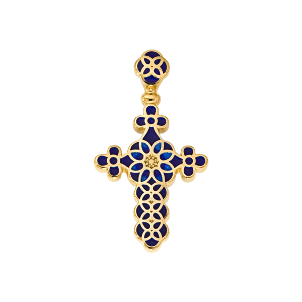 Крест с эмалью 01.031