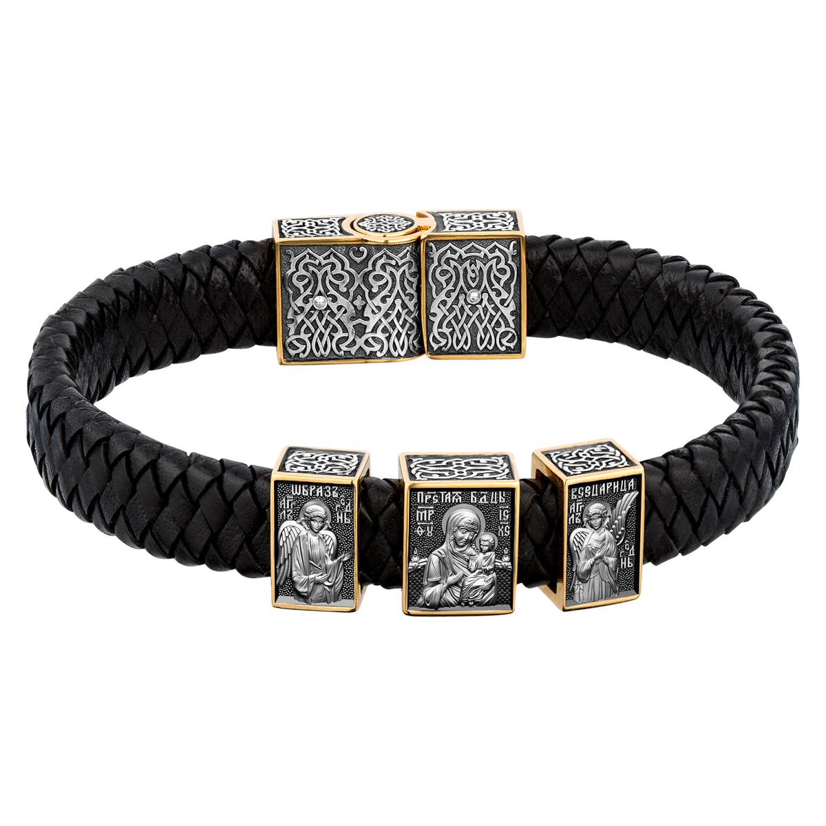 Кожаный браслет «Всецарица» 15.151